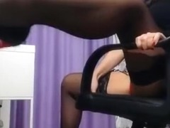 Brunette LongestLegss in black stockings