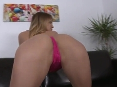 Aleska Diamond sucks dick after masturbating