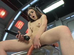 Incredible fetish porn video with best pornstar Juliette March from Fuckingmachines