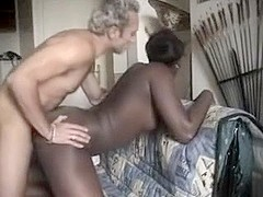 French ebony angel taking white weenie