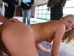 Amazing blonde pornstar Vanda Lust fucks in front of the camera
