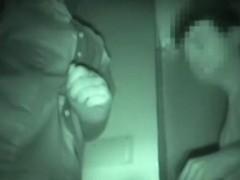 Hot nurse gets a facial in voyeur Japanese sex video