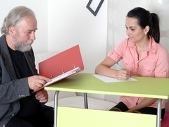 TrickyOldTeacher - Czech student fucked in classroom by her old horny teacher