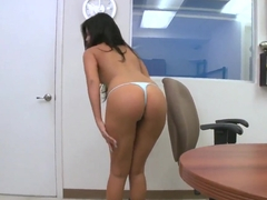Madison Parker shows her delicious butt and sucks