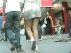 Sexy asses filmed upskirt by me at the shop