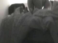 Voyeur sex clip shows two lovers shagging