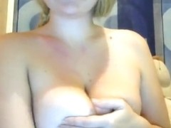 Blonde Triksi plays with a rubber phallus
