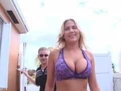 Busty blonde Alanah Rae takes on stiff cock in pov