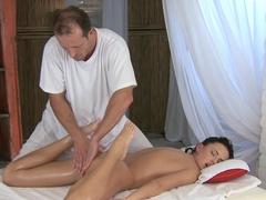 Fabulous pornstars Veronica Vanoza, George in Crazy Brunette, Massage adult clip