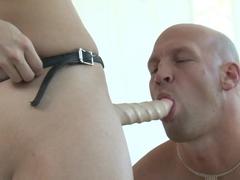 Amazing pornstars Ash Hollywood, Christian XXX in Incredible Femdom porn video