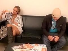 German bloke fucks me in amateur blonde porn clip
