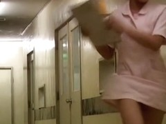 Japanese beauty got her uniform pulled up on video