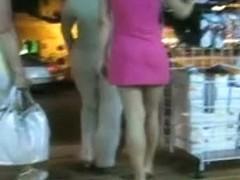 pink short dress upskirt with an ass that sticks up high in the air