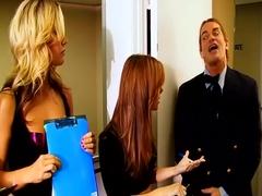 Exotic pornstars Dani Jensen and Kiara Diane in fabulous blonde, small tits xxx video