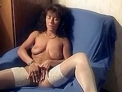 Hawt german vagina in home made movie scene masturbating her precious shaved cum-hole
