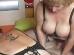 German MILF bimbos fucked well together