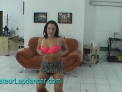 Lapdance by horny czech chick