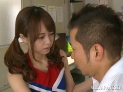 Akiho Yoshizawa Asian cheerleader enjoys a hard fucking