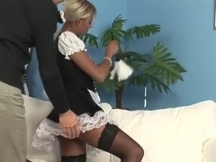 Horny babe pounded hard in her pussy