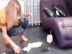 Horny Homemade movie with Blonde, Webcam scenes