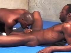 Feisty Black Guys in Gay Wrestling