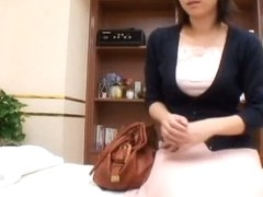 A naughty sex doctor sensually examines his asian patient