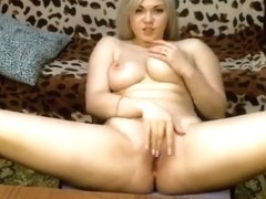 Anastasiya95 Blonde sits on the chair and masturbates