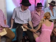 lederhosen swinger party orgy