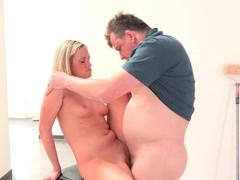 Crazy pornstar in Amazing Blonde, Oldie sex clip