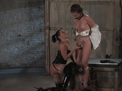 Crazy fetish sex clip with hottest pornstars Sandra Romain and Sara Faye from Whippedass