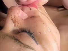 Pervy bitches enjoying my cum
