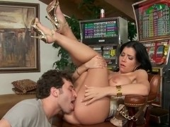 James Deen eats out and bangs Rebeca Linares