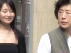 Two Japanese babes got boob sharked in just a few seconds