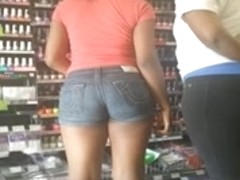 candid booty at a strip mall