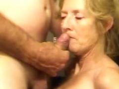 Blonde older wife likes ball batter