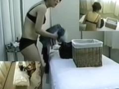 Cute Jap enjoys some hot erotic massage on hidden camera