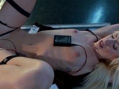 Another Hot Newbie having her First Electro Experience!