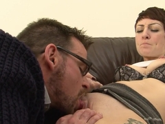 Fabulous pornstar Miss Trixx in crazy tattoos, facial xxx clip