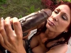 Very nice and hot bitch Tiffany Mynx sucks on a huge dick