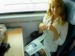 porno star level chick on a train ride
