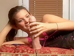 Playing with my fresh truly large sex toy in front of the camera