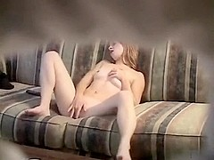 Hot  immature cums on hidden web camera