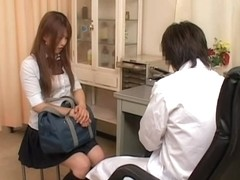 Lustful japanese twat is fingered hard in medical porn movie