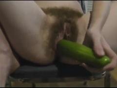 Hairy girl masturbate