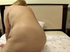 Aged fatty sucks knob and acquires drilled in hotel ottoman