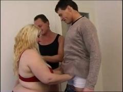 Threesome with Horny Fat Bbw fuckfriend who love cocks