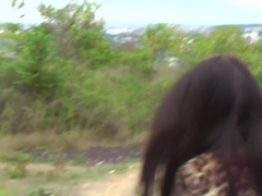 Aurita in hot amateur couple fucking passionately in nature