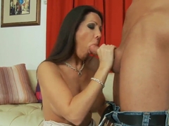 Hot milf Amy Fisher is seducing a young guy
