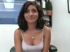 Hot milf Maya Bazin interviewed before hardcore fuck!