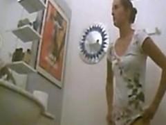 Amateur teen toilet hidden spy cam voyeur